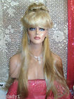 SIN CITY WIGS PICK A COLOR! LONG SLEEK STRAIGHT HALF UP DOWN KNOT BANGS DANCER