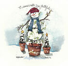 Ceramic Decals O COME ALL YE FAITHFUL Rustic Snowman Tree Scene