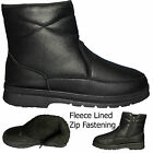 Mens Winter Snow Warm  Fleece Lined Ankle Cosy Chelsea Zip Boots Shoes Uk Sizes