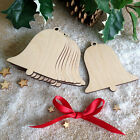 Wooden Bell Shape Hanging XmasTree Decoration Blank to Perosnalise Craft Tags