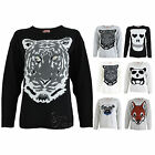 A85 LADIES KNITTED XMAS JUMPERS WOMENS ANIMAL PRINT PATTERN JUMPER SWEATER TOPS