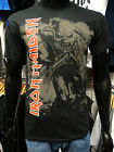 Iron Maiden Men's Black Tee Shirt Official Merchandise HI CONTRAST TROOPER New