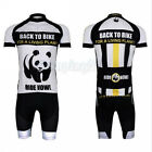 New Panda Cycling Bike Short Sleeve Sports Clothing Bicycle Jersey + Shorts Set