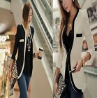 1x Trendy Lady's OL Korea Style One Hook Button Collarless Blazers Coats Jacket