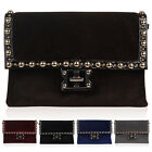 Womens New Faux Pony Skin Ladies Medium Party Club Envelope  Handbag Clutch Bag