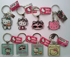 HELLO KITTY ENAMEL KEYRING - Various Designs Available - Key Rings