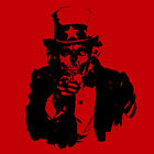 Brand New UNDEAD UNCLE SAM WANTS YOU Shirt, Skull, Zombie, They Live, Corpse USA