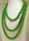 """Green Lariat Turquoise Necklace Gemstone Beads18""""24""""36""""48""""Hot Women Man Necklace"""