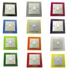 SINGLE LIGHT SWITCH SURROUND COLOURED ACRYLIC DECORATIVE PERSPEX FINGER PLATE