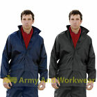 WATERPROOF STORM RAIN JACKET HOODED LEIGHTWEIGHT COAT UNISEX WALKING LEISURE NEW
