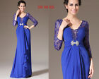 eDressit New Blue Lace Deco Evening Dress Party Ball Gown US4-18 26140105