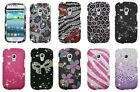 For Samsung Galaxy S 3 III S3 Mini i8190 Case Bling Gem Diamond Snap On Cover