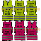 Hi Viz Slogan Printed Baby Mini Kids Boys Girls Safety Vest Waistcoat Childrens