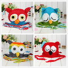 Cute Handmade Baby Boy Girl Crochet knit OWL Beanies Hat ear PHOTO Prop new born