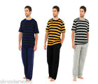 ADULTS MENS STRIPED SHORT SLEEVE PYJAMAS PJS SET MODERN NIGHTWEAR SLEEPWEAR