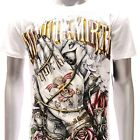 m102w Minute Mirth T-shirt Sz S M L XL Tattoo Rock Skull Rose Rider Metal Trendy