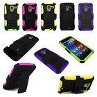 For Motorola Moto X, Xt1060 3pc Hard and Soft Kickstand Case with Holster Clip.