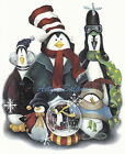 Ceramic Decals Christmas Holiday Penguin Group Snowglobe image