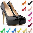 New Ladies Point Womens Platform 14CM High Heels Stiletto Court Shoes Size 4-11