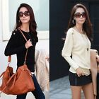 Women's Vogue Batwing Sleeve Tops Dolman Loose Casual Knit Pullover Blouse Tops