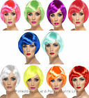 Neon Babe Short Bob Fringe Wig 20s Flapper 70s 80s Ladies Fancy Dress Hen Night