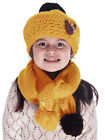 Children Kids Knit Crochet Beanie Winter Warm Hat Cap Crochet Knitted Scarf Set