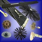DRAIN RODS Chimney Flue guide wheel drop scraper plunger worm screw wire tube