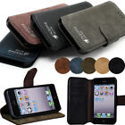 NEW LUXURY HIGH QUALITY GENUINE LEATHER FILP WALLET CASE COVER FOR IPHONE 5G 5S