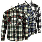 Mens Boys Fleece Lumberjack Casual Check Shirt Warm Thermal Work Long Sleeve