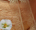 """10/20 Yards Peach 1-3/4"""" Iridescent Lace Trim M118AV Buy More-Ship No Charge"""