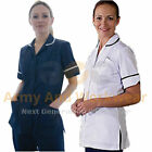 Ladies Plain Healthcare Nurses Beautician Tunics Uniform Vet Housekeeper Womens