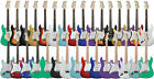 Electric Guitar Strat Style - Black Red Sunburst Purple Greeen Blue plus more