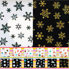 38 Styles To Choice Christmas Snowflakes Design 3D Nail Art Stickers Decals