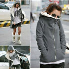 Autumn Winter Women Long Sleeve Zip  Top Outerwear Sweatshirt Hoodie Coat Jacket