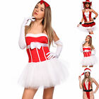 Sexy Women Ladies Miss Santa Claus Xmas Christmas Fancy Dress Hen Night Costume