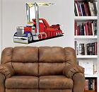 Peterbilt Rescue Wrecker Tow Truck WALL GRAPHIC DECAL MAN CAVE MURAL 1037