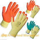 10 x Pairs Latex Rubber Quality Builders Work Safety Handlers Grip Gloves Garden