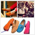 Hot Women's Gommino Casual Suede Flats Leather Shoes Driving Shoes Slip On