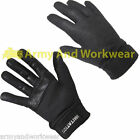 MENS DESIGNER BLACK FITTED WINDPROOF SPORT LOOK GLOVE SMART DOT DETAIL FABRIC