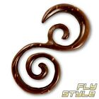 Kokosnuss Expander Spirale ohrringe coconut taper piercing plug tunnel tribal