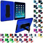 Hybrid Color Heavy Duty Rugged Hard/Soft Case Cover w/ Stand for Apple iPad Air