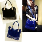 Fashion Korean Celeb Messenger Women Lady Rivet Tote Shoulder Bag Hobo Handbag