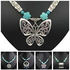 [Tibet9shop] Free Shipping Turquoise Different Shapes Tibetan Silver Necklace