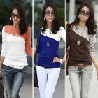 Fashion Ladies Women Casual Long Sleeve T-Shirt Round Collar Tops Blouse Tee