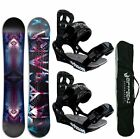 SNOWBOARD SET AIRTRACKS COSMOS WIDE+BINDUNG SAVAGE+BAG+PAD / 159cm 164cm / NEU!