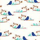 WRENLY- MAMMABIRDS BY VALORIE WELLS BLUE / CREAM - 100% COTTON FABRIC