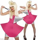 Lady Gaga Fancy Dress Pop Icon Pink Diva Idol Fancy Dress Costume UK 8-10 12-14