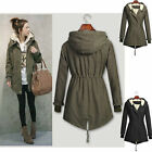 Free P&P!!NEW Womens Winter Thick Fleece Warm Jacket Coats Hooded Parka Overcoat