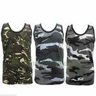 Mens Camouflage Military Army Print Combat Gym Training Sports Muscle Vest Adult