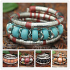 [Tibet9shop] Free Shipping Turquoise Colored Crystal Resin Snake Chain Bangle